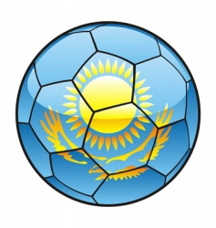 Kazakhstan flag on soccer ball vector