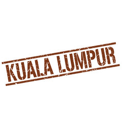 Kuala lumpur brown square stamp vector