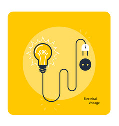 Light bulb with plug on cord - icon electricity vector