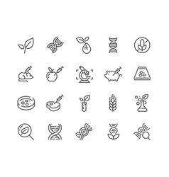 line gmo icons vector image