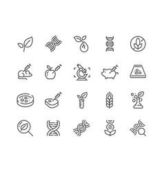 Line gmo icons vector