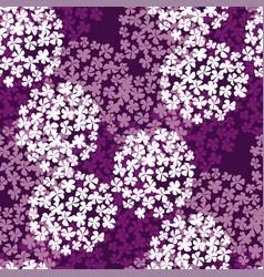luxury violet hydrangea round bouquet vector image