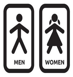 Man and women restroom sign vector