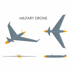 military drone eagle vector image