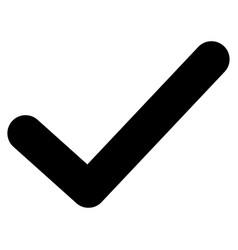 Ok tick flat icon vector