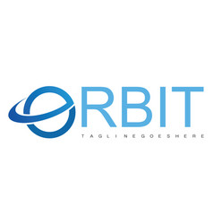 orbit logo vector image