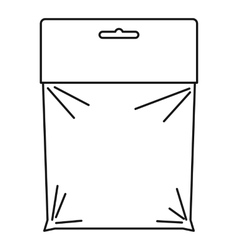 Package icon outline style vector