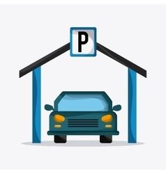 Parking lot design Park icon White background vector image