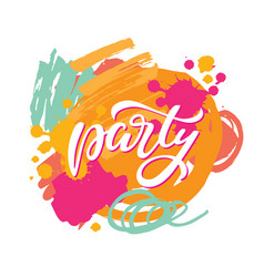 Party lettering sign vector