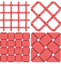Pattern seamless textile background red vector