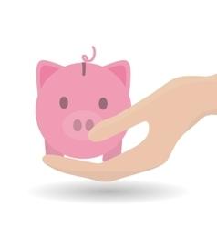 Piggy icon design vector