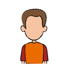 Portrait man male character profile avatar people vector