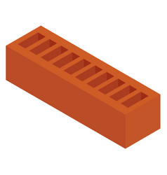 red ceramic brick vector image