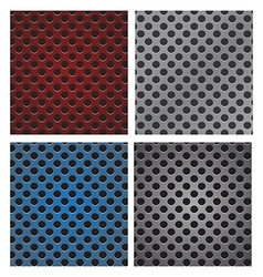 Seamless circle perforated carbon speaker grill vector