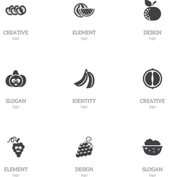 Set of 9 editable cookware icons includes symbols vector
