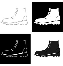 set of black and white mens shoes vector image