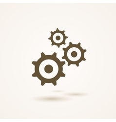 Set of three gears or cogs in different sizes vector