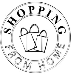 Shopping from home icon and concept logo vector