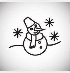 snowman thin line on white background vector image