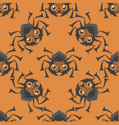spiders of halloween seamless pattern vector image