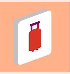 suitcase computer symbol vector image