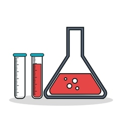 test tube laboratory isolated icon vector image