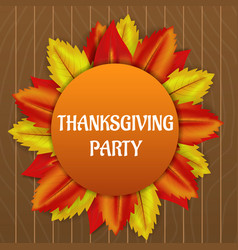 thanksgiving party concept background realistic vector image