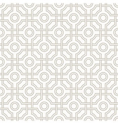 Traditional arabic tangled pattern in light brown vector