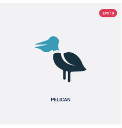 two color pelican icon from animals concept vector image