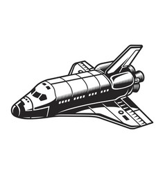 vintage futuristic spacecraft concept vector image