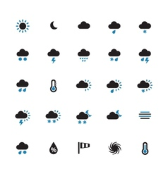 Weather duotone icons on white background vector image