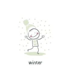 Winter walk vector
