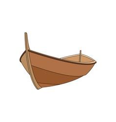 wooden-boat vector image