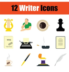Writer icon set vector