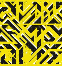 Yellow urban geometric seamless texture vector