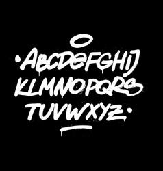 Brush hand style font alphabet vector