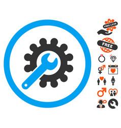 customization icon with lovely bonus vector image
