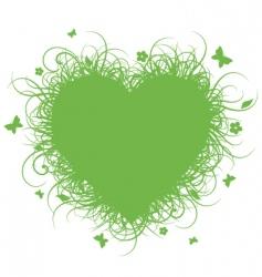 grass heart vector image