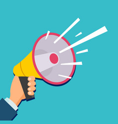 hand holding megaphone flat vector image