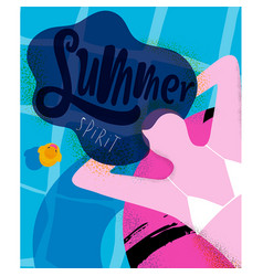 poster summer spirit vector image vector image