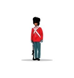 Royal British guardsman sign vector image