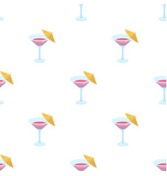 glass with a cocktailparty and parties single vector image vector image
