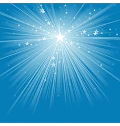 Light Rays and Stars vector image vector image