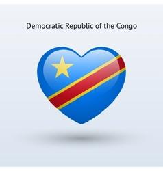 Love Democratic Republic of Congo symbol Heart vector image