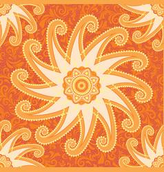 Orange decorative pattern vector