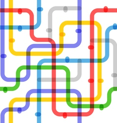 Abstract color metro scheme vector image vector image