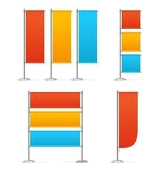 Blanc Banner Flag Mockups Color vector image vector image