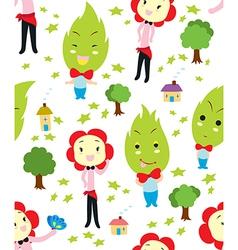 Flower Head Family Pattern vector image