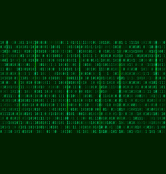 matrix background with the green symbols format vector image