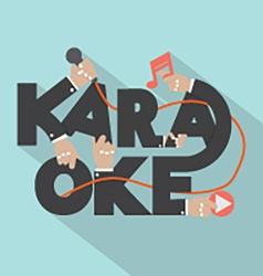 Microphone Hand With Karaoke Typography Design vector image vector image